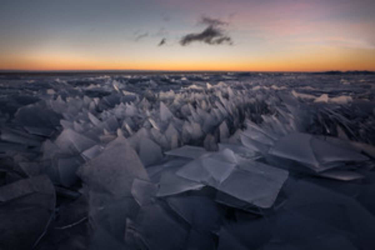 Stacked ice