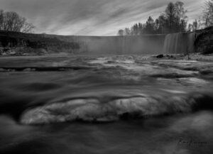 Wintery Jägala waterfall