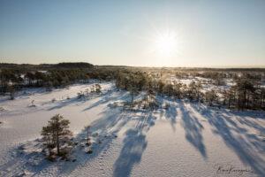 Snow-covered Kakerdaja bog