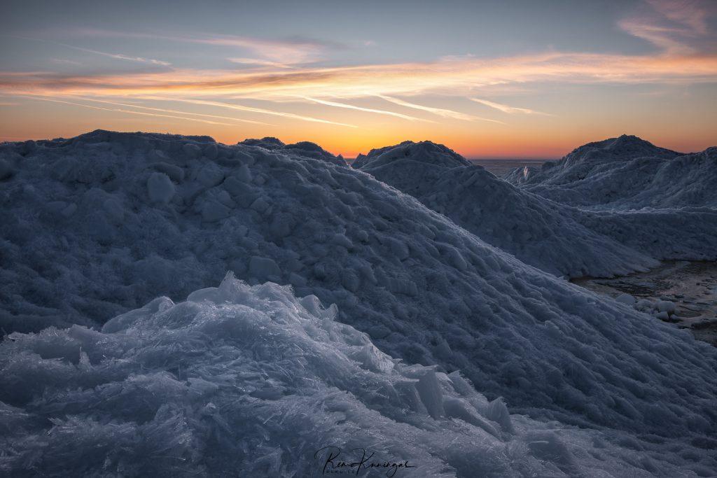 Ice piles